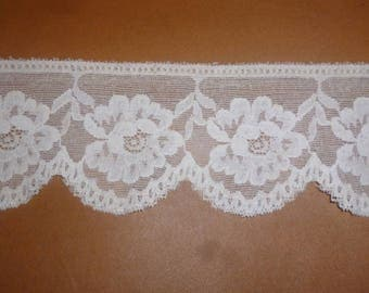 White stretch lace
