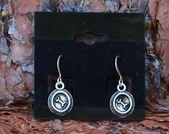 "Dog Bowl Earrings with Dog Bone ""Top Dog"", Dog Bowl Earrings, Pet lovers Earrings, Animal Lovers Earrings, Pet, Animal, Charm Earrings"