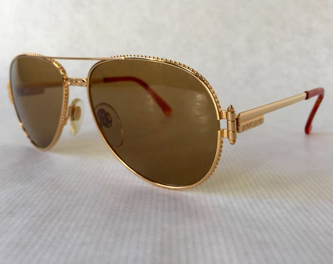 Gérald Genta Gefica 24K Gold Plated Vintage Sunglasses Full Set New Old Stock