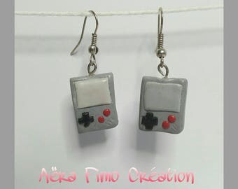 "Earrings fimo ""Console the old"""