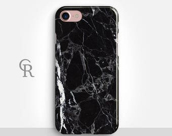 Black Marble Phone Case For iPhone 8 iPhone 8 Plus - iPhone X - iPhone 7 Plus - iPhone 6 - iPhone 6S - iPhone SE - Samsung S8 - iPhone 5
