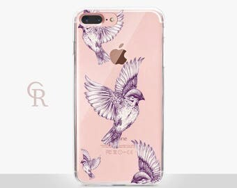 Bird Clear Phone Case For iPhone 8 iPhone 8 Plus iPhone X Phone 7 Plus iPhone 6 iPhone 6S  iPhone SE Samsung S8 iPhone 5 Transparent
