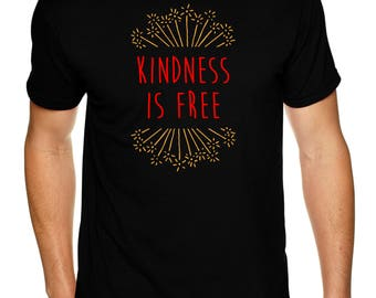 KINDNESS IS FREE adult shirt - Premium Sueded T Shirt