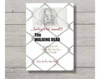 Zombie Invitation Customizable - Printable Digital Download