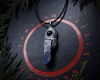 Earthborn Stormweavers Amulet , Lapis Lazuli /Crystal Pendant/Crystal Jewelry/Handmade/Unique/Pagan/Heathen/Amulet
