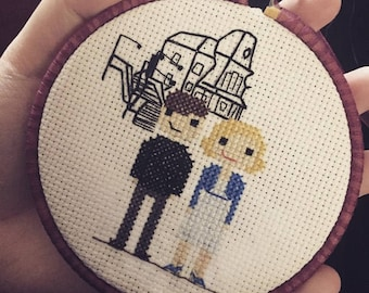 Bates Motel parody cross stitch pattern
