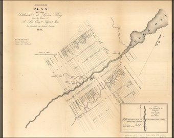 Poster, Many Sizes Available; Map Of Green Bay, Michigan Territory, Revised 1821