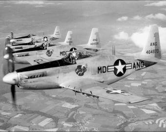 Poster, Many Sizes Available; F-51H Mustang P-52 Maryland Ang Guardian Angels 1952