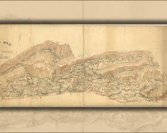 Poster, Many Sizes Available; Map Of North Wythe County Virginia 1860