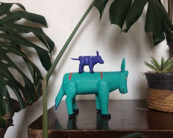 Colorful wood animals from Oxaca.