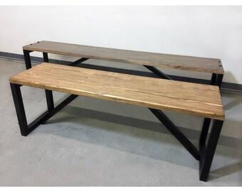 Custom Rustic Modern Benches