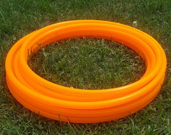 UV ORANGE 3/4 polypro hula hoop