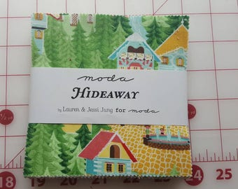 Lauren and Jessi Jung Hideaway Charm Pack for Moda, OOP and VHTF