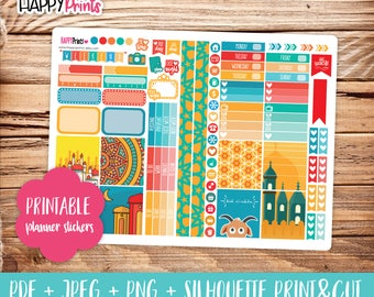 Eid Printable Personal Planner Stickers.