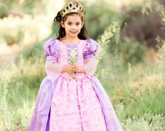 Rapunzel Dress / TANGLED DRESS / Deluxe princess Costume