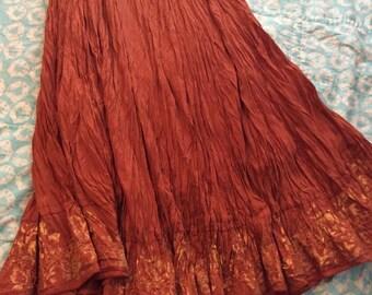 Boho Sadona Sunset Maxi Skirt