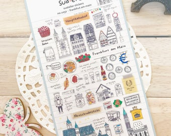 BESTSELLER!   Suatelier Frankfurt Am Main  Illustrated Deco Stickers/ Scrapbooking Europe Travel Sticker