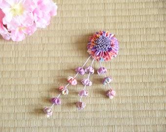 handmade flower hairclip hair clip korea hanbok style