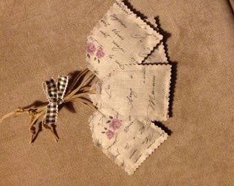 Set of 5 pouches filled with Lavender