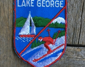 ONLY ONE! Lake George New York Vintage Souvenir Travel Patch from Voyager