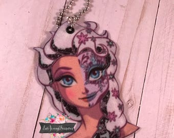 Frozen Padded Fabric Keychain/Zipper Pull