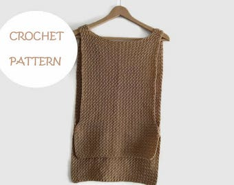 PATTERN of crochet summer top or vest ZARA style, in english and spanish language. Direct download PDF.