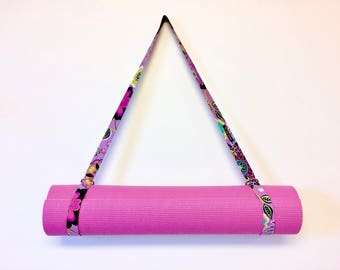 Yoga Mat Sling, Yoga Mat Strap, Exercise Mat Strap, Mat Carrier by 8th Day Encore