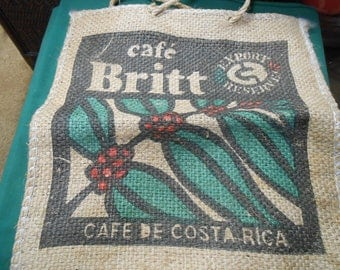 Burlap Handbag-CAFE de COSTA RICA