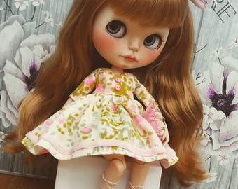Summer Handmade dress for Blythe