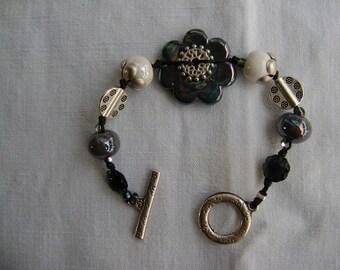 Bracelet Flower Power en céramique grecque