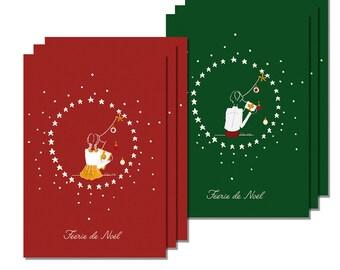 Set six magic of Christmas cards