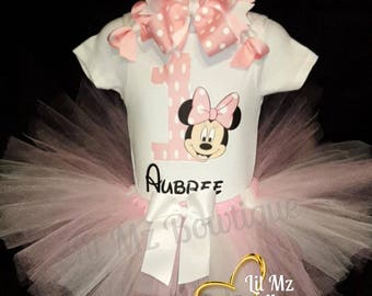Minnie mouse 1st birthday tutu outfit, minnie mouse tutu, minnie mouse tutu set, minnie mouse birthday tutu, minnie mouse tutu dress