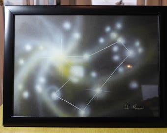 GEMINI | Astrological Constellation | Painting