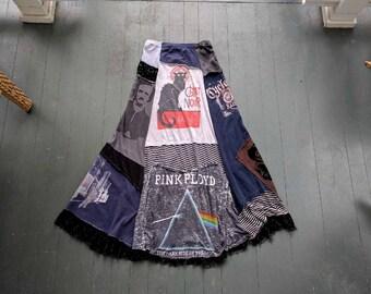 Boho Recycled Maxi Skirt / Breathe-Again Skirt