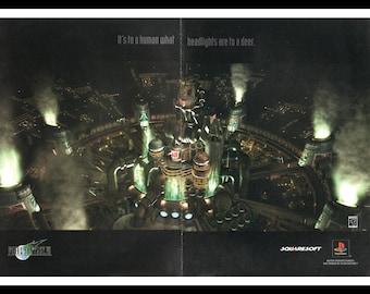 "Vintage Print Ad October 1997 : Final Fantasy VII Video Games 2 Page Spread Wall Art Decor 16"" x 11"" Advertisement"