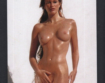 MATURE - Playboy Trading Card 1994 to 1996 update - Celebrity Gold Foil Insert - Angie Everhart #3AE
