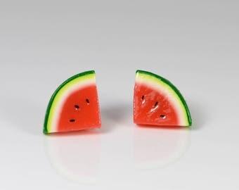 Watermelon Earrings Studs
