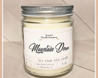MOUNTAIN DEW scented scented Soy Candle Jar, Scented Soy Candles, Hand Poured Soy Candles, Soy Candles Handmade, Candles For Him, Man Candle