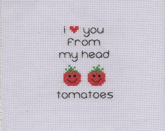 Love from Head to Tomatoes - Cross Stitch