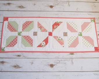 Springtime Quilt Table Runner - Easter Table Decor - Patchwork Quilt Runner - Quilted Table Topper - Easter Table Runner - Handmade Quilt