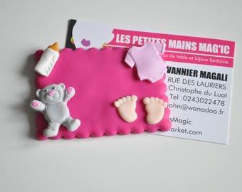 model customizable nursery pink auxiliary hospital badge