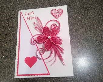 Valentines day Quilled Greeting card
