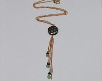 PRICE reduced: Necklace Golden long beads and chains
