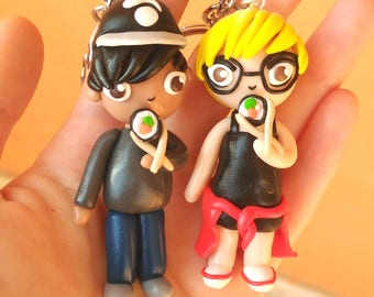 Chibi personalised custom version of you or couple. Chibisize yourself and your partner! Custom order Valentine's Day