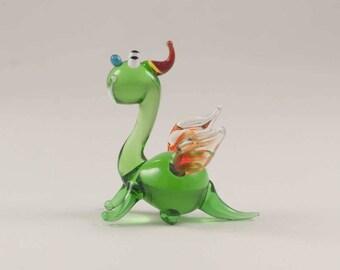 Glass Dragon Hand Blown Collectible  Figurine