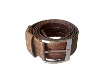 Cork Belt Brown Cork Belt Vegan Cork Belt for Men Brown Belt Leather Belt Gift for Him Handmade Gift for Vegans