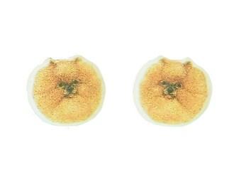 Pomeranian Earrings Small