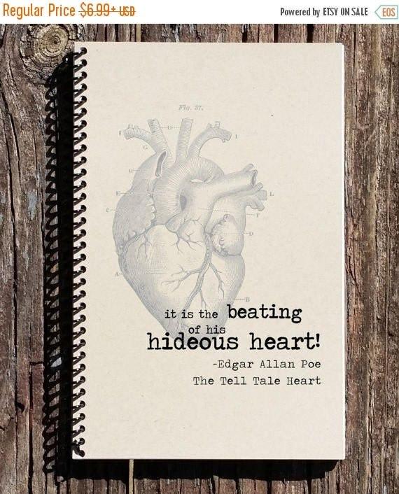 Tell Tale Heart Quotes: SALE Edgar Allan Poe Journal Edgar Allan Poe Notebook