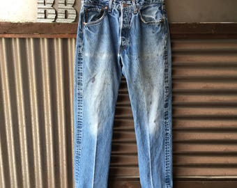 Vintage LEVIS 501 Better Days Blue Jeans 30