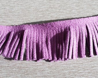 50 cm of fringe 30mm purple lace